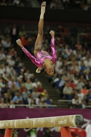 Gabrielle Douglas on the balance beam
